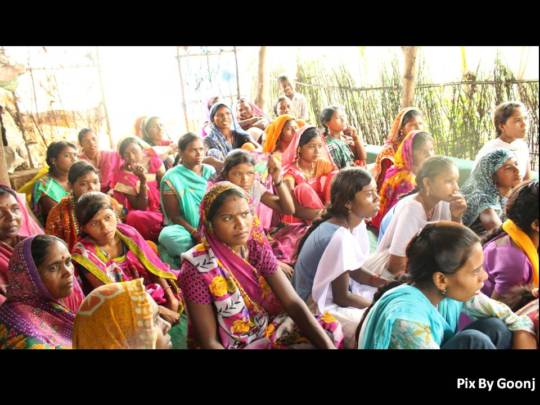 Women listening attentively..