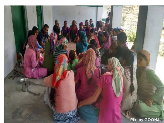 Interaction with women - Village Gamdidgaon