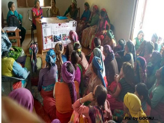 Interaction with women - Village Gyanja