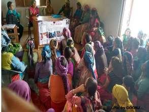 Interaction with women - Village Gyanja