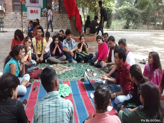 Youth actively involved in the discussion..