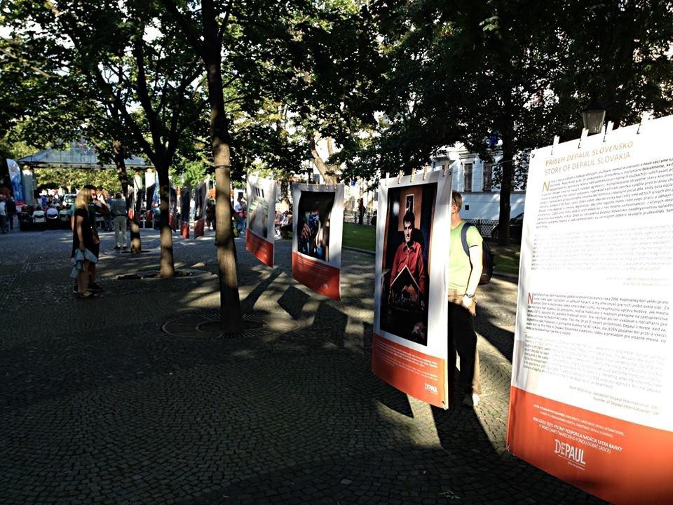 Exhibition at Hviezdoslavovo square