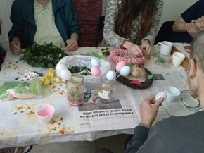 Preparation of the Easter decorations