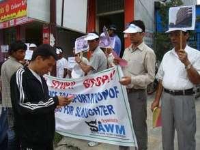 Demo in front of Australian Embassy in 2008