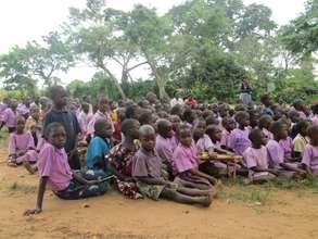 Kibiribiri pupils during the launching