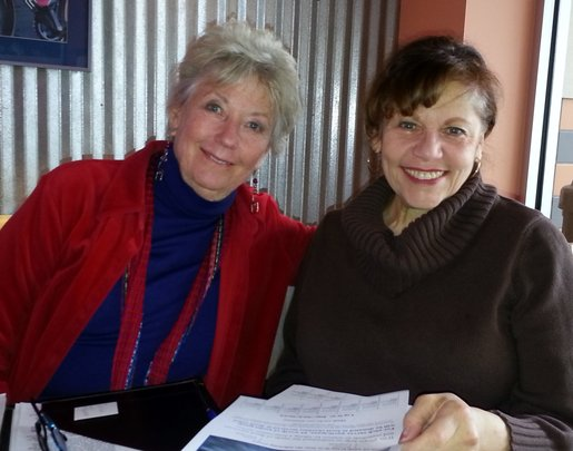 Wendy (left) and RoseMarie (right) at work