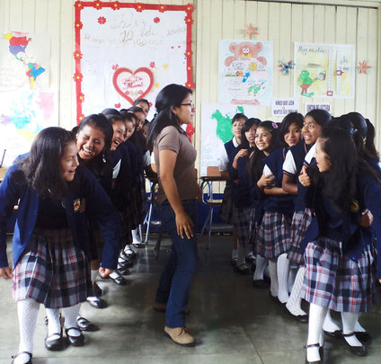 Girls learn leadership skills in the classroom