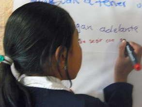 La Hermanita Writing