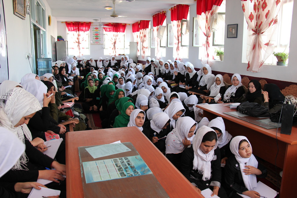 Young Women in a Peace Workshop