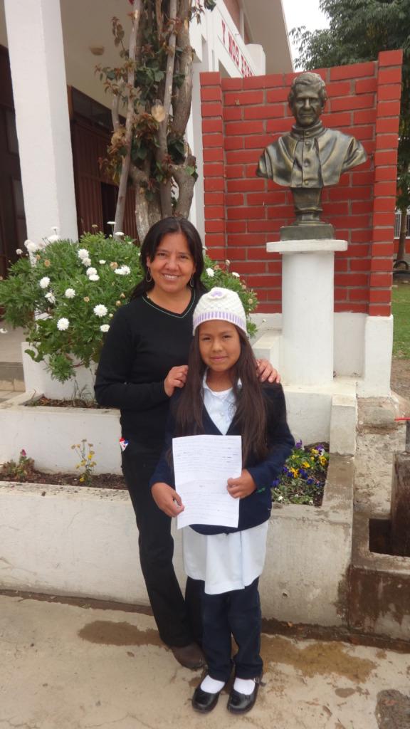 Carla with su teacher Elizabeth