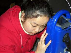 A new world opens for a blind Chinese girl
