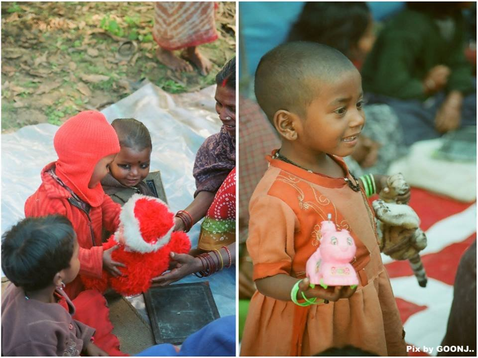 Children happy to play with toys...