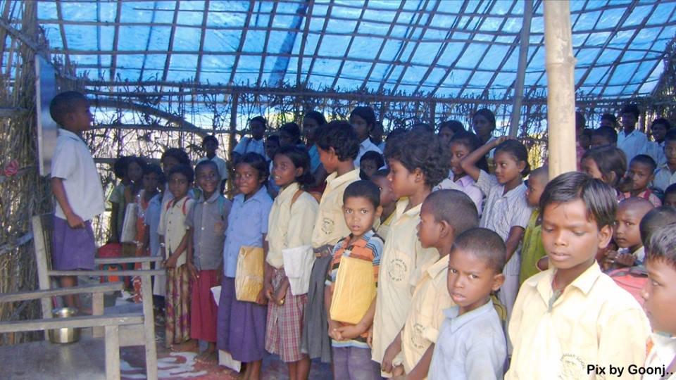 Children in an activity..