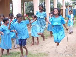Kids tapping on their feet, immersed in joy..