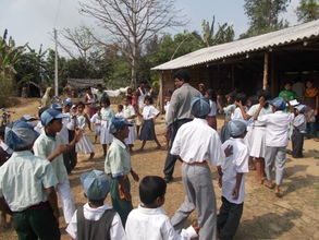 Children involved in an activity!