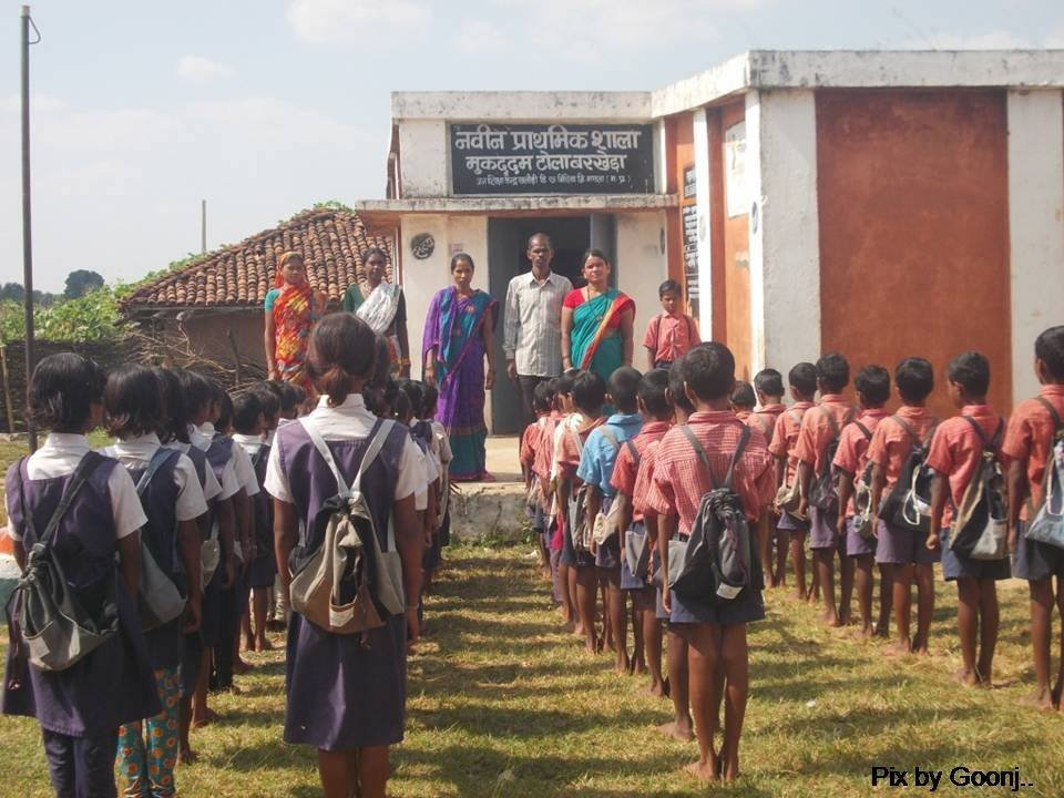 Children with their School Kits!