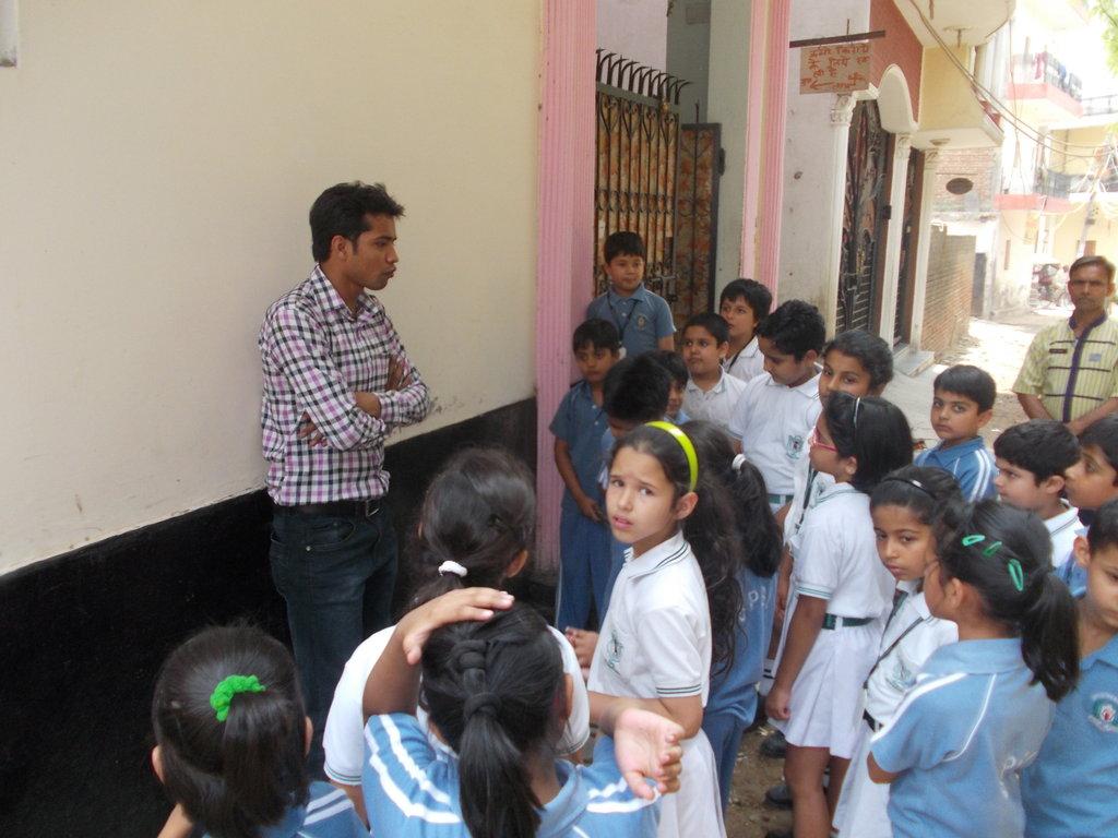 Interaction with children of DPS International