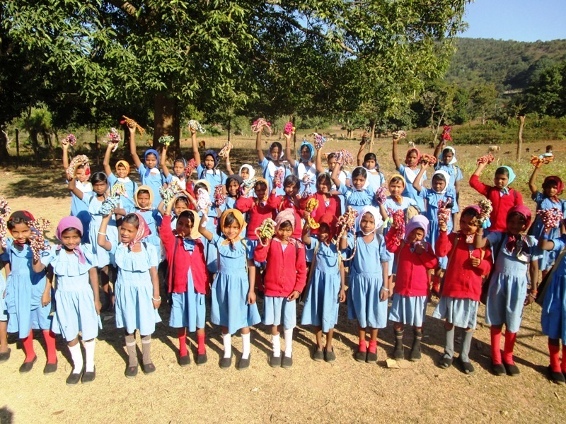 Children happily posing