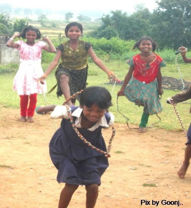 Children enjoying themselves!