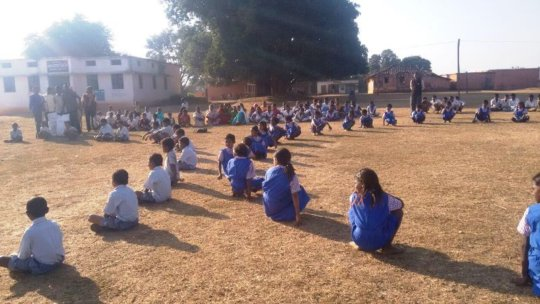 Children engaged in activities