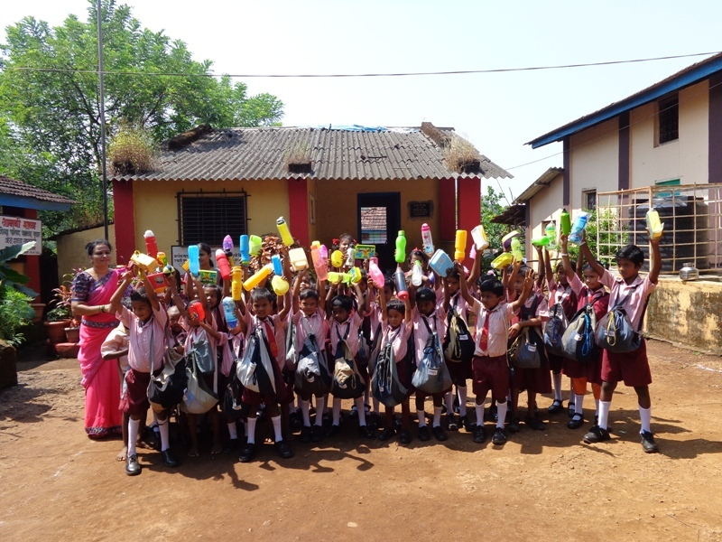 Children happy with all the school materials..