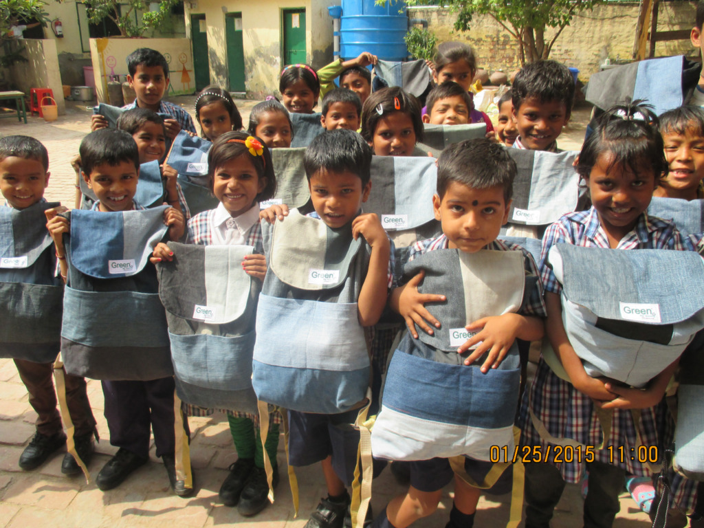 Group of children with School Kits!