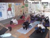 Yoga enables our girls to calm down by meditation