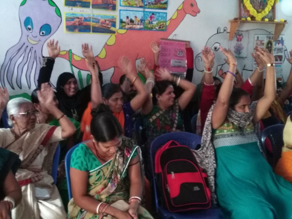 Fun and game session for mothers