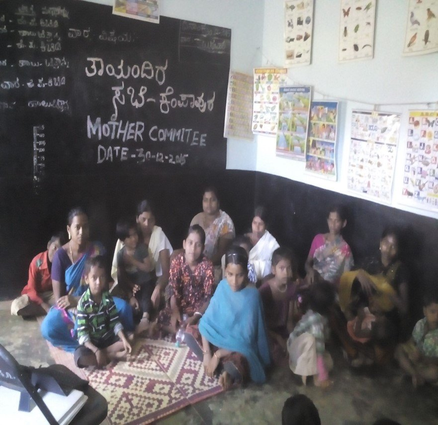 Mothers at a meeting to discuss children