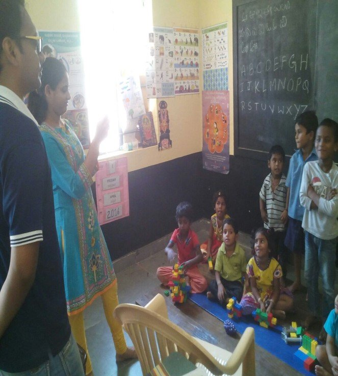 Volunteers at the centre