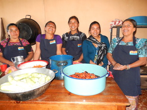 Mothers Prepare Lunch at Chichimuch Inauguration