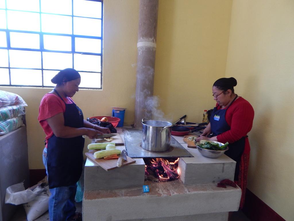 Nutrition demonstration in new kitchen