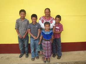 Dona Andrea and her youngest children