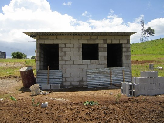 New house under construction for Nikte's family