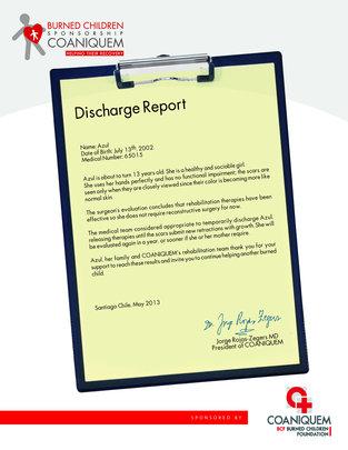 Azul's Discharge Report