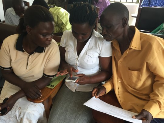 Girl Roster Trainees Learn how to use GPS Devices.