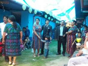 Local wedding in the school