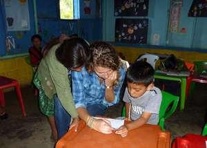 Eliza teaching in Itzapa