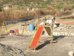 Playground during construction