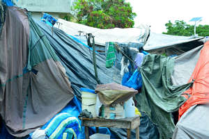 Tent cities still exist in Port-au-Prince