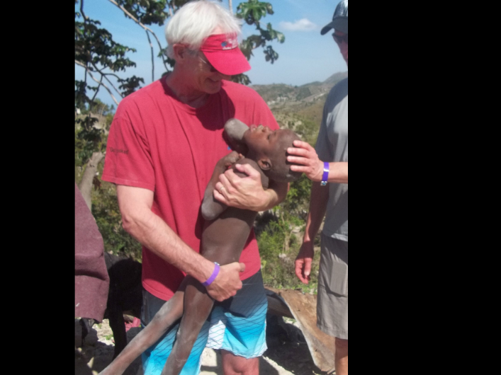 Co-Founder Joe Krabacher finding  a child in need