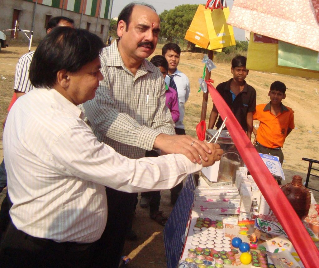 Fun Fair opened by Mukesh Tyagi, Principal RJIT.