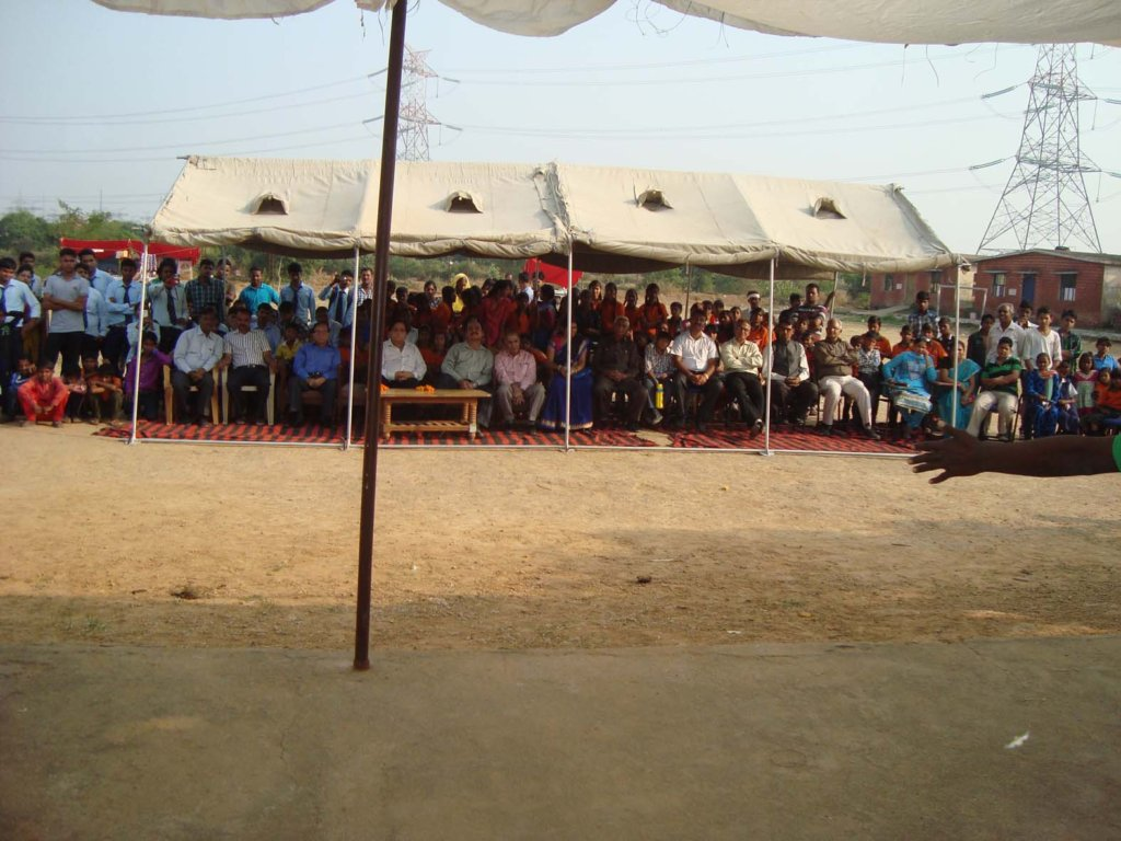 Children, guests and students enjoying the event