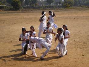 Children doing yoga play on 26th Jan.2014