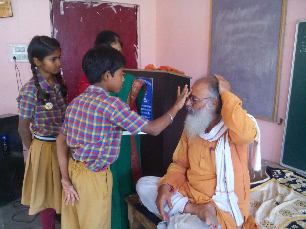 Respecting Guru Swami Vashistha on Gudi Padava.