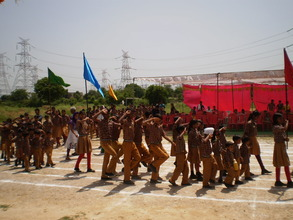 March past for starting the annual sports