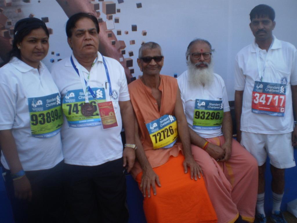 Team of Gwalior in Mumbai Marathon