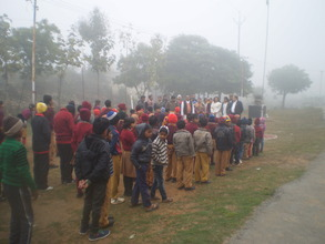 Children from nearby Govt. Schools joined too