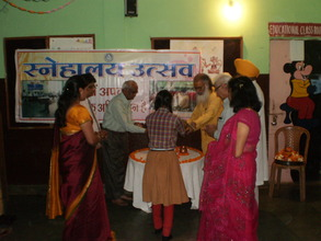 Saraswati Vandana by school children and guests