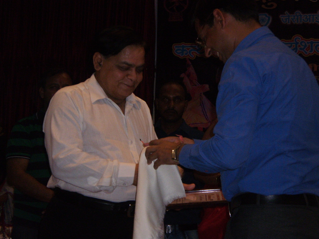 Dr. Sharma being honoured by JCIs of Gwalior
